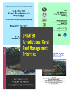 jurisdictional coral reef management priorities